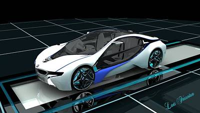 Digital Art - Bmw Concept Car by Louis Ferreira