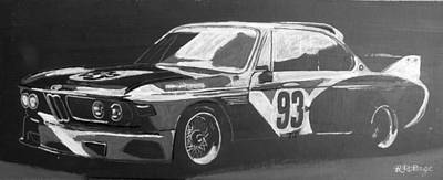 Painting - Bmw 3.0 Csl Alexander Calder Art Car by Richard Le Page