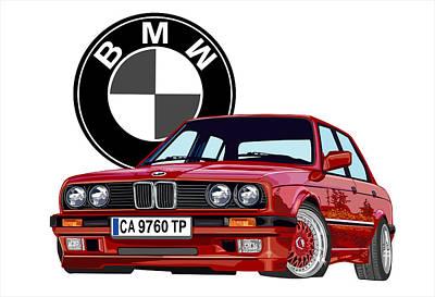 BMW Art Print by DARRYL McPHERSON
