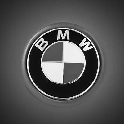 Badges Photograph - Bmw Emblem -0460bw by Jill Reger