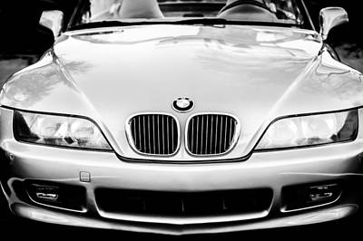 Photograph - Bmw Grille -1119bw by Jill Reger