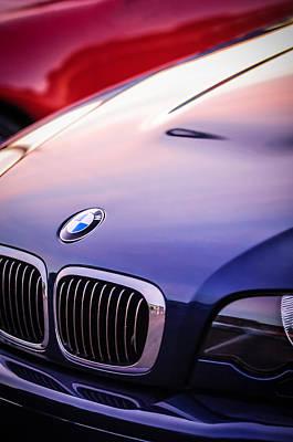 Photograph - Bmw Grille Emblem -0773c by Jill Reger