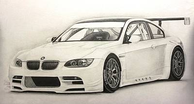 Concept Drawing - Bmw Gtr M3 by Gary Reising