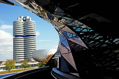 Photograph - Bmw Headquarters, From Bmw Welt, Or Bmw by Dan Herrick