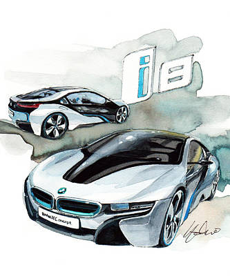 Bmw I8 Paintings Fine Art America