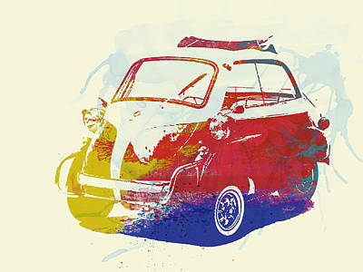 Bmw Isetta Art Print by Naxart Studio