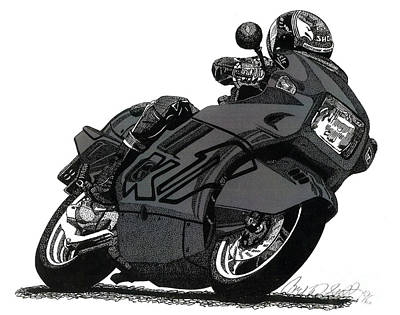 Motorsport Drawing - Bmw K1 by Cory Still