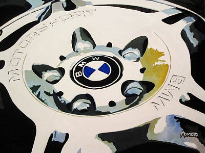 Bmw Ltw Wheel Art Print by Indaguis Montoto