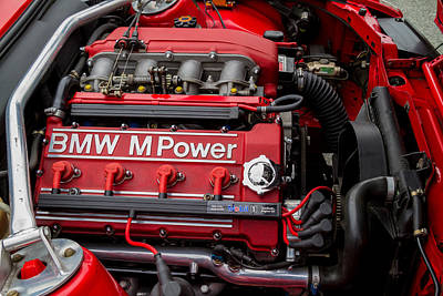 Bmw M Power Engine Art Print