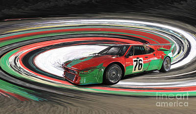 Bmw M1 By Warhol Art Print