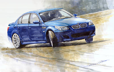 Paper Wall Art - Painting - Bmw M5 2006 01 by Yuriy Shevchuk