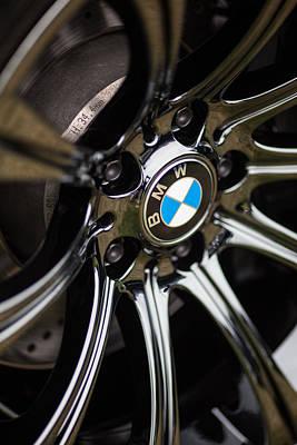 Bmw M5 Black Chrome Wheels Print by Mike Reid