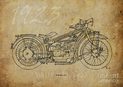 Painting - Bmw R32 1923 by Pablo Franchi