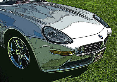 Bmw Z8 Nose Study Art Print by Samuel Sheats