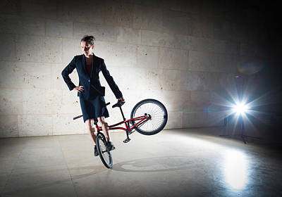 Photograph - Bmx Flatland Rider Monika Hinz Elegant And Cool by Matthias Hauser