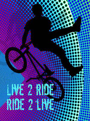 Bmx Fractal Movie Marquee Live 2 Ride Ride 2 Live Art Print
