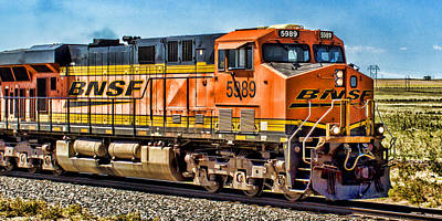 Photograph - Bnsf 5989 by Bill Kesler