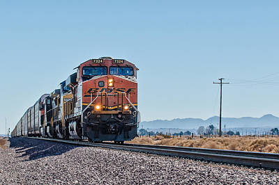 Photograph - Bnsf 7324 by Jim Thompson