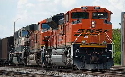 Photograph - Bnsf 9097 In Atlanta by John Black