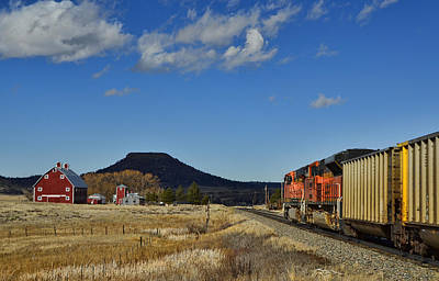 Photograph - Bnsf Coal Drag At Greenland Colorado by Ken Smith