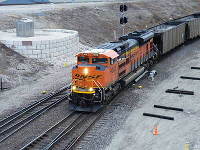 Photograph - Bnsf Kc Rail Yards by The GYPSY And DEBBIE