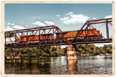 Bnsf Over The Meramec Art Print by Robert FERD Frank