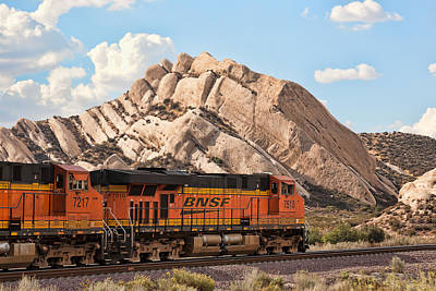 Photograph - Bnsf Past Mormon Rocks by Peter Tellone