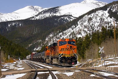 Recently Sold - Steven Krull Royalty-Free and Rights-Managed Images - BNSF rolls through Rollins Pass Colorado by Steven Krull