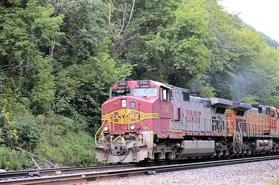 Photograph - Bnsf Train by Bonfire Photography