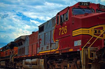 Photograph - Bnsf Train by Tim McCullough
