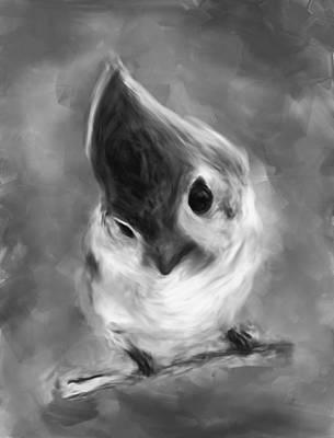 Bnw Bird Art Print by Dhouib Skander