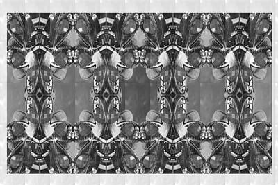 Painting - Bnw Bw Black N White Imitation Jewellery Graphic Design Decorative Patterns Navinjoshi Rights Manag by Navin Joshi