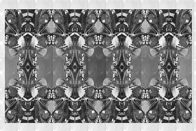 Movie Tees - BNW BW Black n White Imitation Jewellery Graphic Design Decorative Patterns NavinJoshi Rights Manag by Navin Joshi