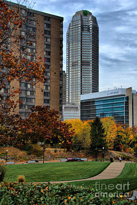 Bny Mellon From Duquesne University Campus Hdr Art Print