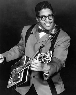 Bos Bos Photograph - Bo Diddley by Silver Screen