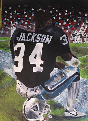 Raiders Painting - Bo Jackson II by Jeremy Moore
