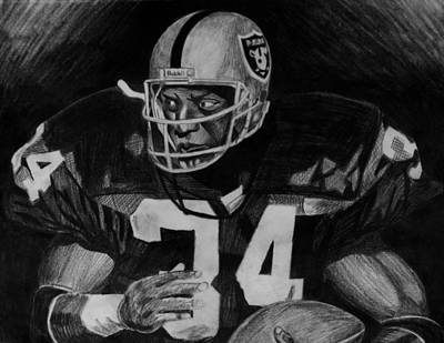Raiders Drawing - Bo Jackson by Jeremy Moore