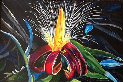 Painting - Boab Flower by Renate Voigt