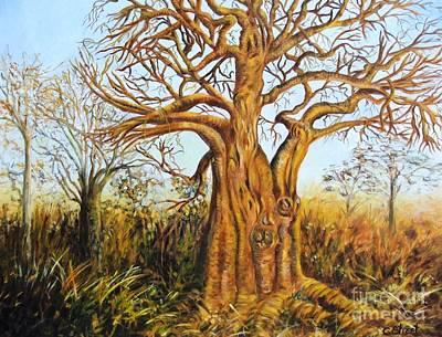 Baobab Painting - Baobab Tree by Caroline Street