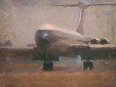Briex Painting - Boac Vc10 Landing 2 by Nop Briex