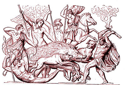 Monster Photograph - Boar Hunting In Ancient Greece by Collection Abecasis