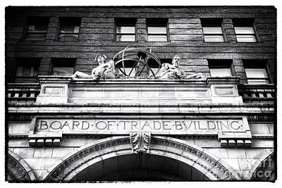 Board Of Trade Building Art Print by John Rizzuto