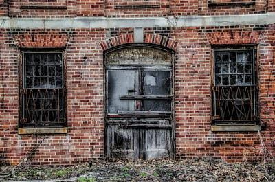 Boarded Up Door - Norristown State Hospital Art Print by Bill Cannon