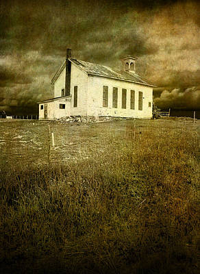 Rusty Trucks - Boarded up Old White Schoolhouse in West Michigan by Randall Nyhof