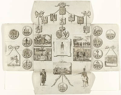 Game Lights Drawing - Boardgame About The Patriots, 1793 by Litz Collection