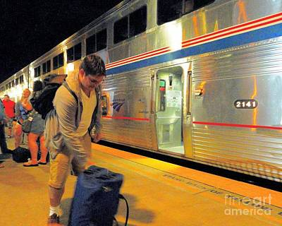 Photograph - Boarding Amtrak Back Home To San Antonio by Janette Boyd