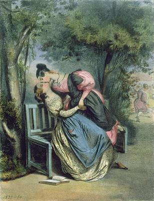 Boarding School Friends, 1837 Art Print by French School