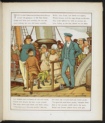 Boarding The Ship At Folkestone Harbour Art Print by British Library