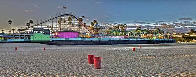Santa Cruz Photograph - Boardwalk And Amusement 1 by SC Heffner