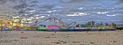 Photograph - Boardwalk And Amusement 2 by SC Heffner